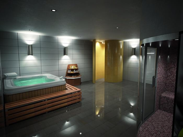 Lilluminazione nella progettazione di spa e centri - Esempi di illuminazione a led per interni ...