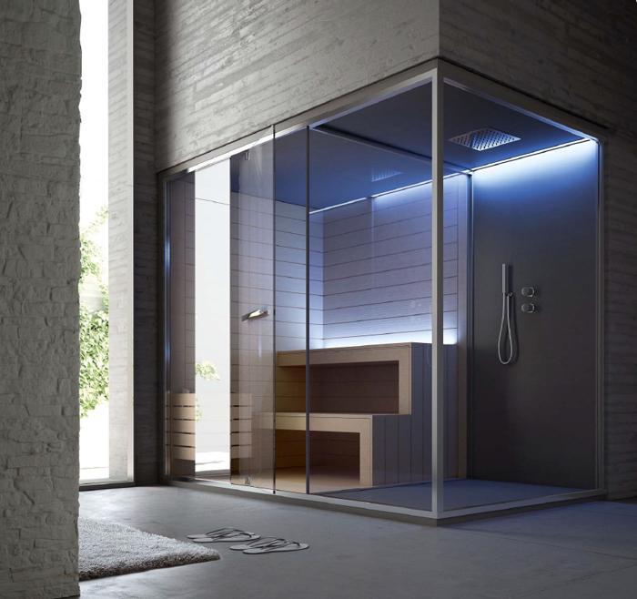 Sauna vita cabina multifunzione per centri benessere e - Cabine doccia in muratura ...
