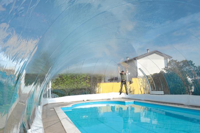 Favaretti: copertura per piscina gonfiabile  Coperture piscina  Sistemi, tecnologie e prodotti ...