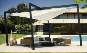 Soluzioni per l 39 arredamento da esterno per centri sportivi fitness club piscine e centri - Tende a vela da esterno ...